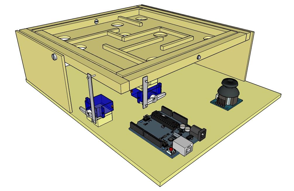 Proyecto arduino laberinto de bolas oscilante « tecnokent